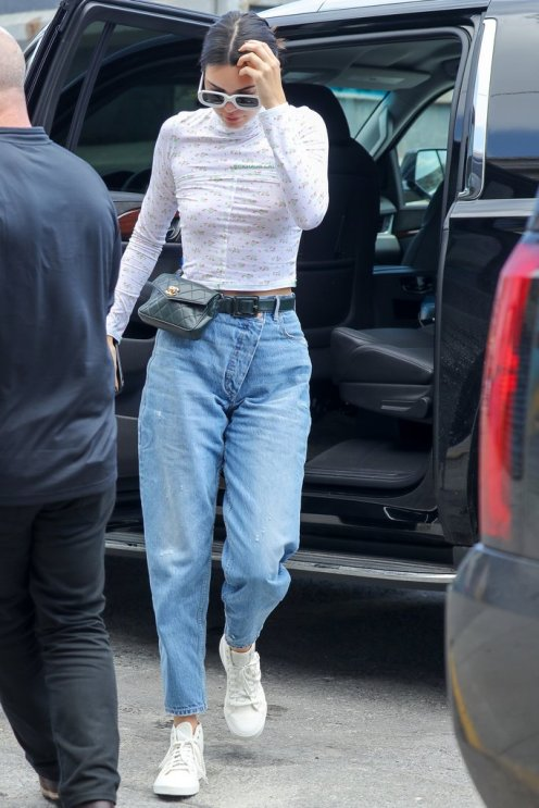 Kendall-Wearing-Monse-Wrap-Waist-Jeans