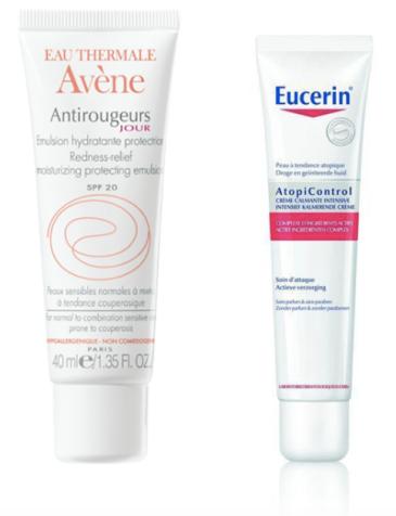Meilleurs soins contre les rougeurs - Avène - Eucerin - BlondiBrunette